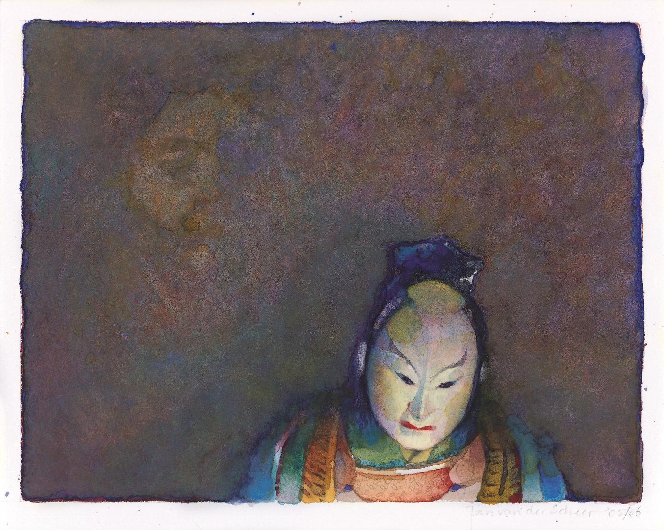 2005 Japans masker (16 X 21 cm) 7915w