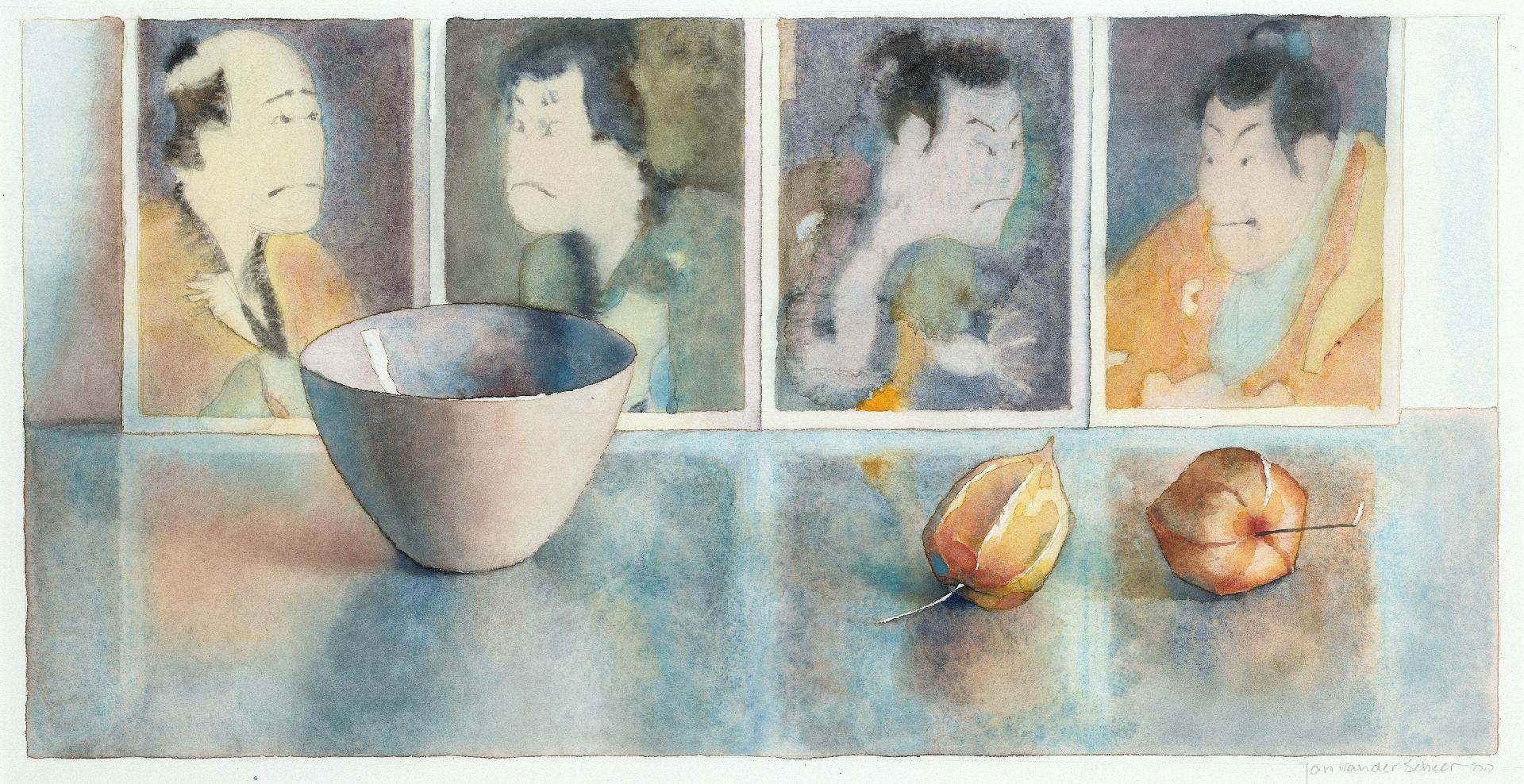 2000 Kom met Japanse portrettengalerij (26 X 49 cm) 8984