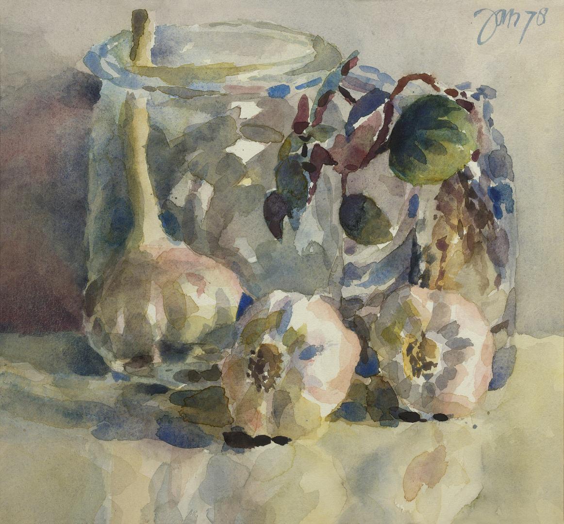 1978 Stilleven met knofloken (27 X 29 cm) 19040